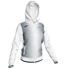 Tralee Tennis Club Joma Supernova Hooded Jacket Woman White-Dark Navy Adults 2019